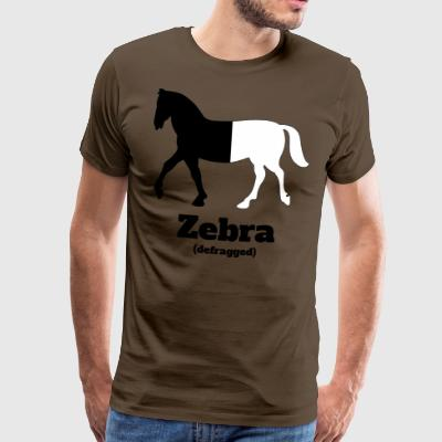 Zebra defragged - Men's Premium T-Shirt