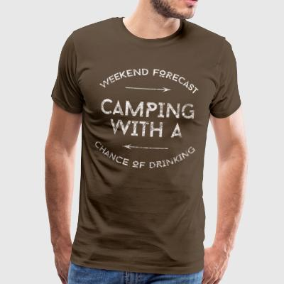 CAMPING med risiko for DRIKKEVAND SHIRT - Herre premium T-shirt