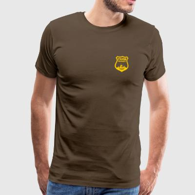 Farm Security Guard, Ranch kleine Gold Badge Schild - Männer Premium T-Shirt