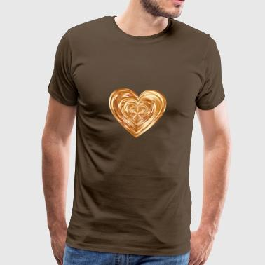 Gleaming heart bronze - Men's Premium T-Shirt
