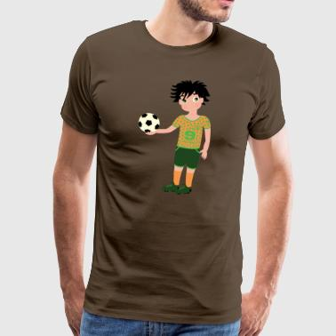 Young footballer - Men's Premium T-Shirt