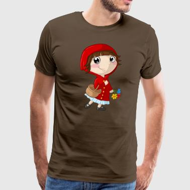 Little Red Riding Hood tegneserie - Herre premium T-shirt