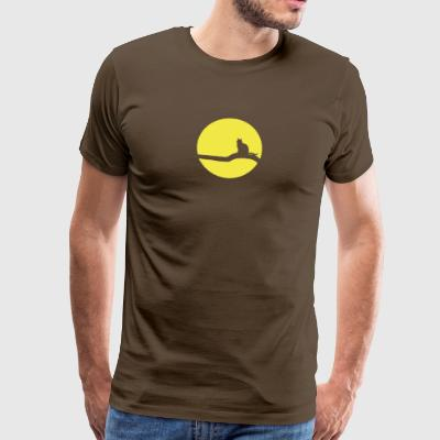 Cat in Moonlight Cat gift Moonlight - Men's Premium T-Shirt