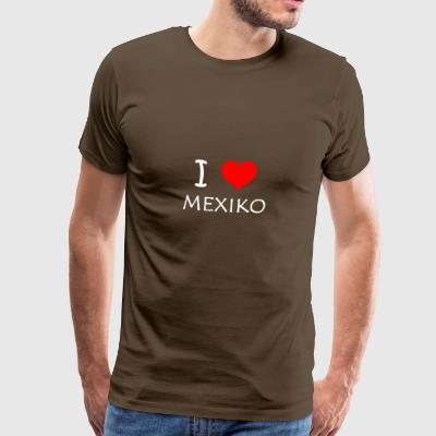 I Love Mexico - Herre premium T-shirt