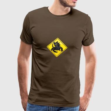 Australia Roadsign Thorny Devil - Men's Premium T-Shirt