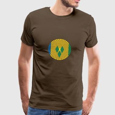ST VINCENT GRENADINES Love Heart Mandala - Mannen Premium T-shirt