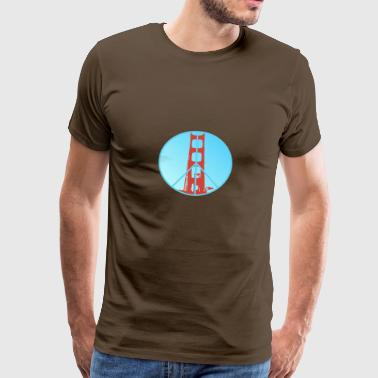 Golden Gate Peace - Mannen Premium T-shirt