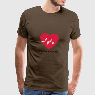 Heart Norfolk Iceland - Men's Premium T-Shirt