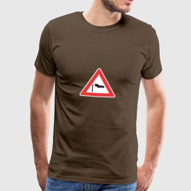 Road Sign windy triangle - Men's Premium T-Shirt