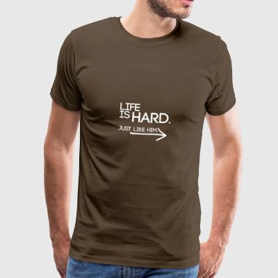 Buried Shirts Life Is Hard White - Mannen Premium T-shirt