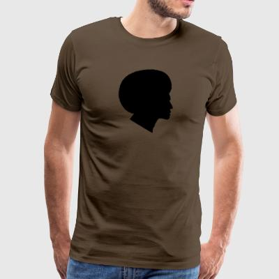 Afrikaner mit Afro Silhouette (Funk / Soul Style) - Männer Premium T-Shirt