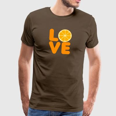 Frukt / frukt: Love Orange - Premium-T-shirt herr