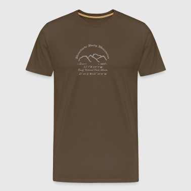 Canada Rocky Mountains - Herre premium T-shirt