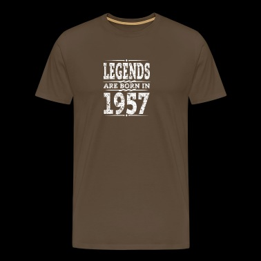 legends are born in 1957 - Men's Premium T-Shirt