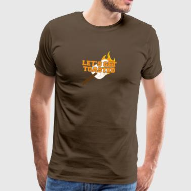 Camping, caravane, camping, nature, le camping - T-shirt Premium Homme