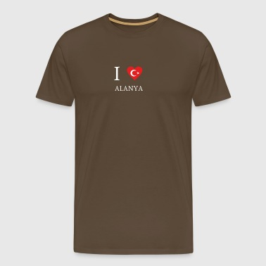 Love Tuerkiye Turkey ALANYA - Men's Premium T-Shirt