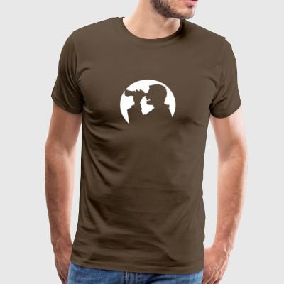A Man Looks Through His Binoculars - Men's Premium T-Shirt