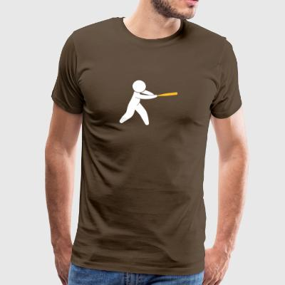 En Baseball Player Hits bolden - Herre premium T-shirt
