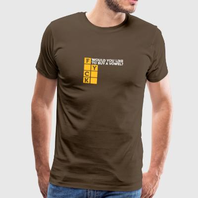 Would You Like To Buy A Vowel? - Men's Premium T-Shirt