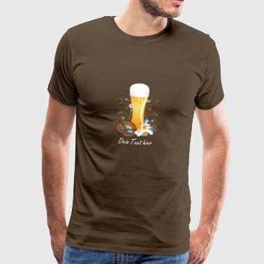 Wheat beer with snack - Men's Premium T-Shirt