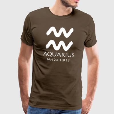 Aquarius Zodiac Sign - Mannen Premium T-shirt