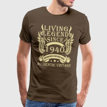 Legende Legenden seit 1940 Authentic Vintage - Männer Premium T-Shirt