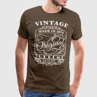 Vintage Made in 1974 Original - Herre premium T-shirt