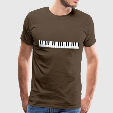 Piano keyboard - Premium T-skjorte for menn
