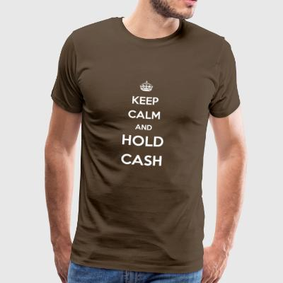 hold cash / crisis / bitcoin / crash - Men's Premium T-Shirt