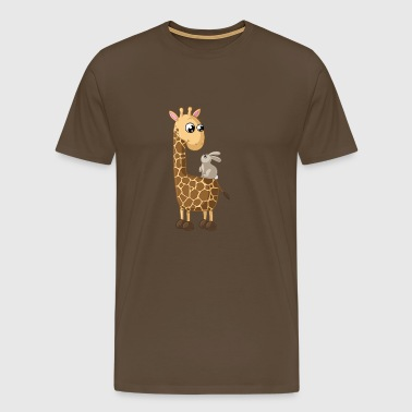 Happy cartoon giraffe - Men's Premium T-Shirt