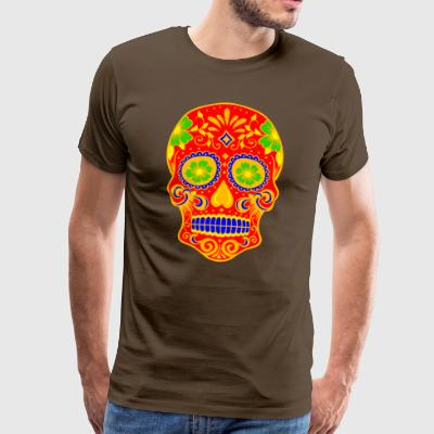 Ancient Skull Art Design - Men's Premium T-Shirt