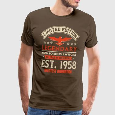 Limited Edition Legendary Est 1958 - Men's Premium T-Shirt