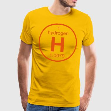 Element 1 - h (hydrogen) - Full (round) - T-shirt Premium Homme