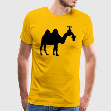 Camel with faucet head - Men's Premium T-Shirt