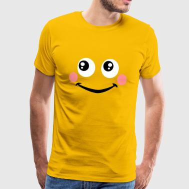 Smiley rote Backen - Männer Premium T-Shirt