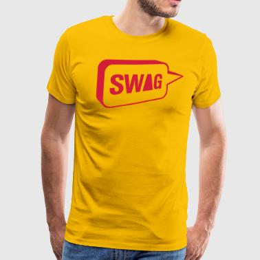 SWAG snakkeboble - Premium T-skjorte for menn