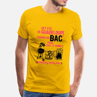 Guadeloupe Humour bac guadeloupe barbecue apero cuite biere - T-shirt Premium Homme