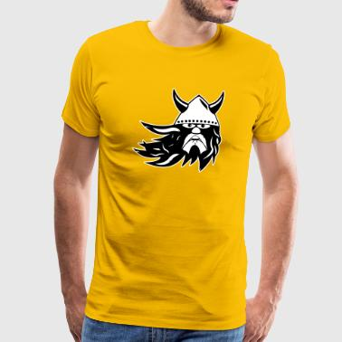 viking warrior 2k outline EN - Men's Premium T-Shirt
