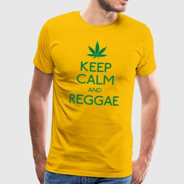 keep calm and Reggae houd rust en reggae - Mannen Premium T-shirt