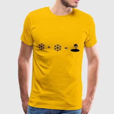 snow + snow - Men's Premium T-Shirt