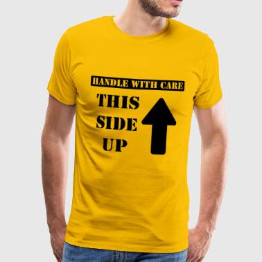 Handle with care / This side up - PrintShirt.at - Männer Premium T-Shirt