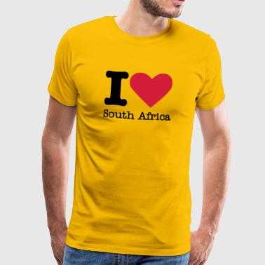 I Love South Africa - T-shirt Premium Homme