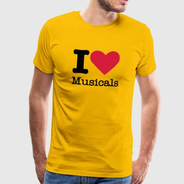 I Love Musicals - Men's Premium T-Shirt
