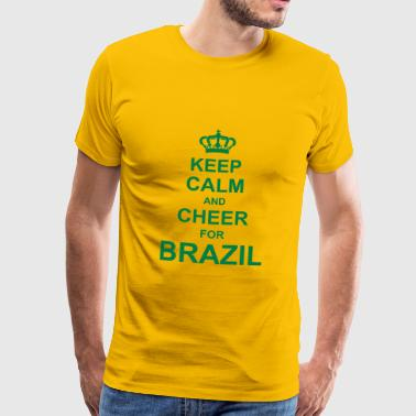 keep_calm_and_cheer_for_brazil_g1 - Männer Premium T-Shirt