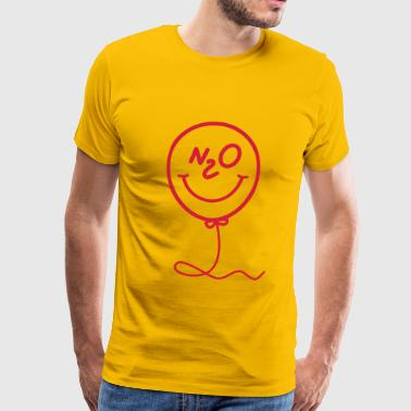 Lattergas - ballon - smiley - Herre premium T-shirt