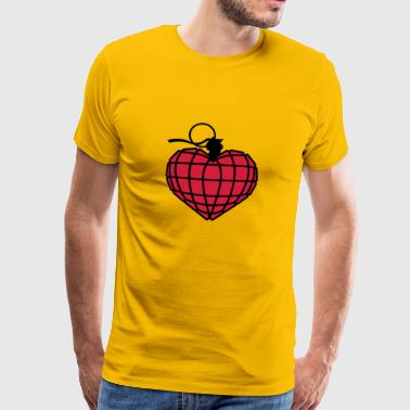Herzgranate | Heart Grenade | Herz | Heart - Men's Premium T-Shirt