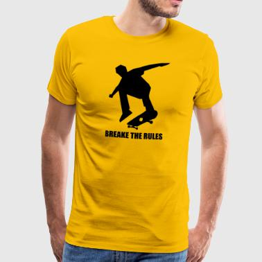 SK8 break the rules - Men's Premium T-Shirt
