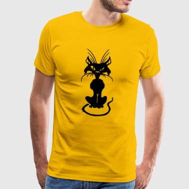 Bad Cat - Premium T-skjorte for menn
