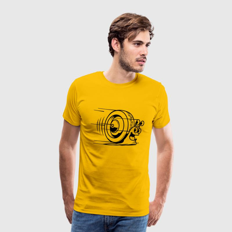 speed snail - Herre premium T-shirt