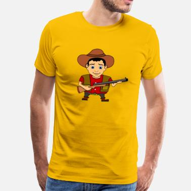 Wild West Cowboy Wild West Sheriff - Men's Premium T-Shirt